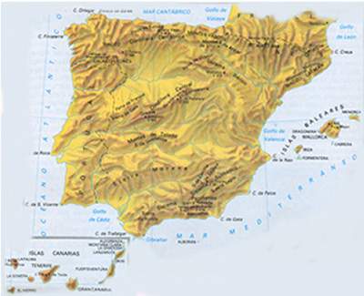 THE GEOGRAPHY OF SPAIN