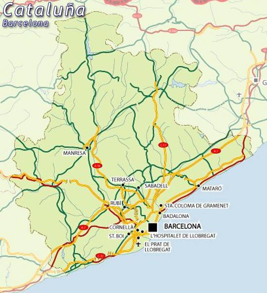 Maps of Catalua catalonia map barcelona for planning your holiday