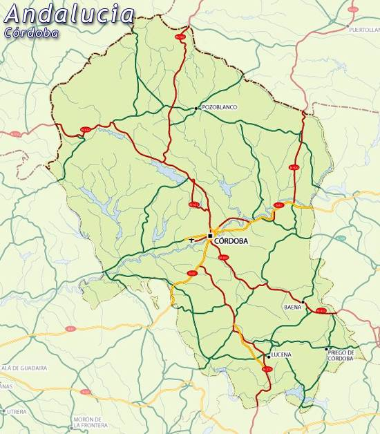 Moron Spain Map.Maps Of Andalusia Andalucia Map For Planning Your Holiday In