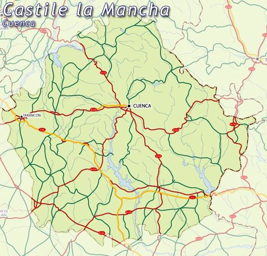 Maps of Castilla la Mancha castille map for planning your holiday