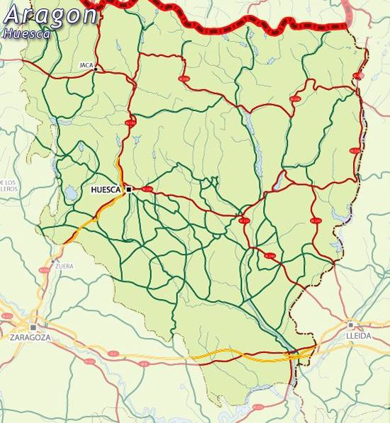 Map Of Spain Huesca.Maps Of Aragon Map For Planning Your Holiday In Aragon Aragon Community