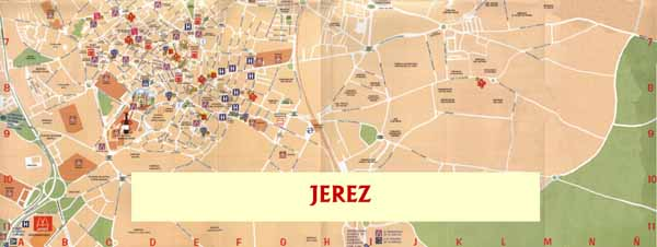 Holiday Map Of Spain.Map Of Jerez Map For Planning Your Holiday In Jerez Cadiz Spain
