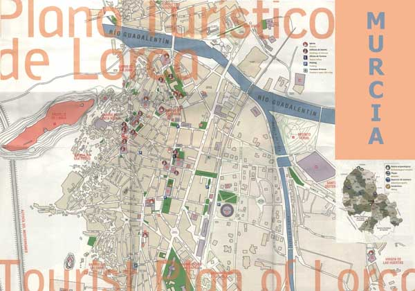 Map of Lorca map for planning your holiday in lorca Murcia spain