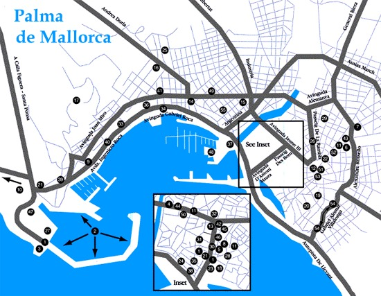 Map Of Palma De Mallorca Majorca Map For Planning Your Holiday In