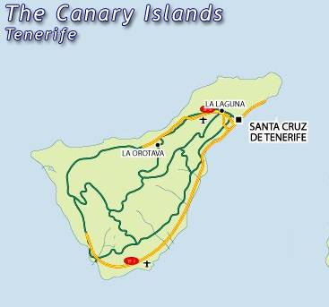 Maps of Islas canarias canary island map for planning your holiday