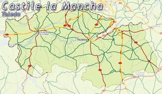 La Mancha Spain Map.Maps Of Castilla La Mancha Castille Map For Planning Your Holiday